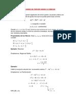 Ecuaciones de Tercer Grado o Cúbicas