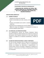 ESPECIFICACIONES TECNICAS AVANZADO