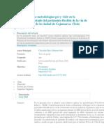 Aplicación de Las Metodologías Pci y Vizir en La Evaluación Del Estado Del Pavimento