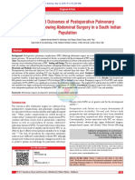 Predictors and Outcomes of Postoperative Pulmonary