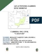 Proyecto de Arquitectura municipio Carapari