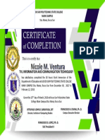 Certificate STA MARIA Ict