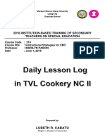 Daily Lesson Log in Tle With Hearing Impairment Accomodation WEEKLY