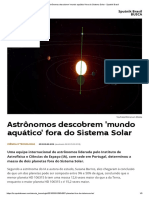 Astrônomos Descobrem 'Mundo Aquático' Fora Do Sistema Solar - Sputnik Brasil