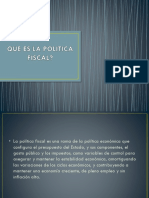 Que Es La Politica Fiscal Diapositivas