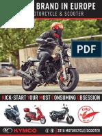 KYMCO 2018 OnRoad Brochure