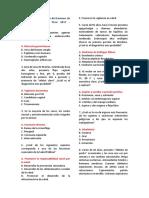 Examen de Residentado Médico Perú 2017