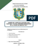 i. Diseño de La Red de Alcantarillado Sanitario y Pluvial de Abancay (1)