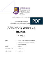MAR531 Lab Report 1 (LIST OF EQUIPMENTS IN OCEANOGRAPHY)