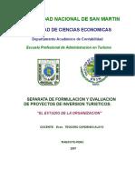 Separata de Formulacion y Evaluacion de Proyectos de Inversion Turisticos