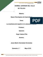 """Diario de Campo Con Tipos de Aprendizaje """"Bases psicológicas del aprendizaje"""""""