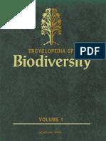 Encyclopedia of Biodiversity Volume 1