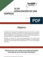Problemas de Internacionalización de una Empresa