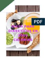 Dieta Para Diabéticos en 2000 Calorías