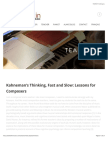 Kahneman and Music