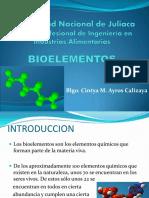 Bioelementos P,S,O