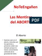 2018 Las Mentiras Del Aborto