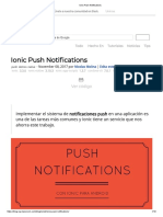 Ionic Push Notifications