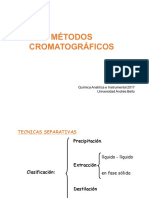 Clase 10 Qui-140 2017 Cromatografia Fundamentos I