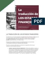 La Traducción de Los Estados Financieros