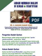 Kajian Ibadah Qurban Dalam Perspektif Ilmiah & Syar'Iyyah 2017