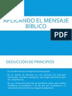 Aplicando El Mensaje Biblico