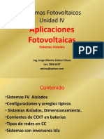 2018 Sistemas FV Unidad VI Sistemas Aislados