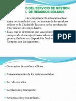 Diagnòstico Del Servicio de Gestiòn Integral Deresiduos Sòlidos-semi Final