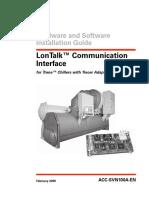LonTalk Communication Interface - Trane Chillers -IOM- LonTalk __ACC-SVN100A-En