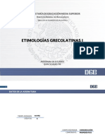 Etimologías Grecolatinas I