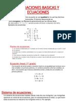 Operaciones Basicas y Ecuaciones