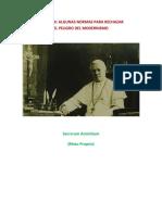 Algunas Normas Para Rechazar El Peligro Del Modernismo (San Pio X)
