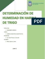 Determinacion de Humedad Harina de Trigo