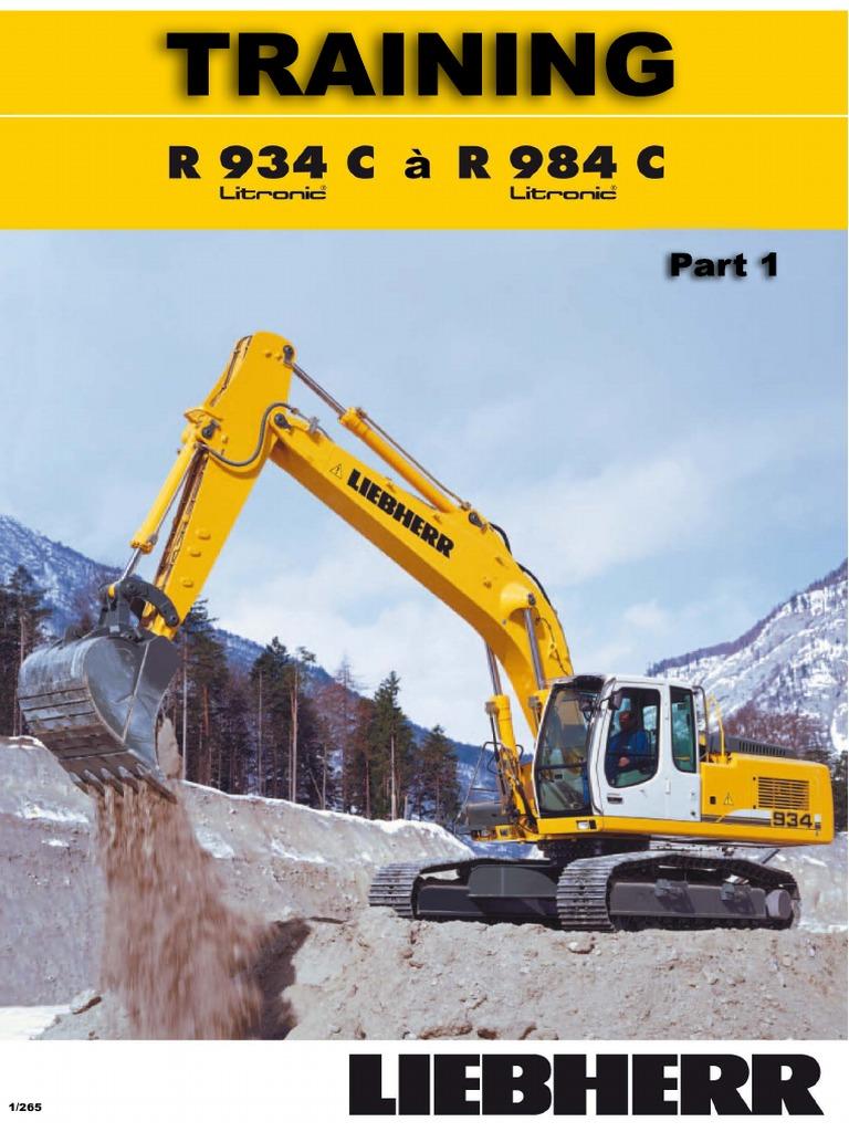 Liebherr R934 R984 Excavator Manual Diesel Engine Turbocharger Key Switch Wiring Diagram