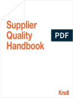 Knoll Supplier Quality Handbook