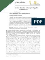 A Development of Freudian Metapsychology for Schisophrenia Artaloytia2014