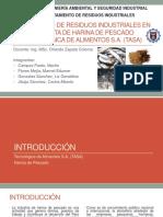 Tratamiento de Residuos Industriales en una empresa de elaboración de harina de pescado