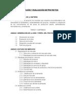 Temario Formulacion y Evaluacion