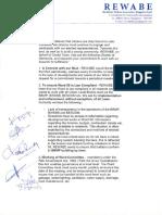 Rewabe - Charter of Demands