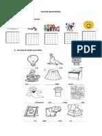 Guía de Aprendizaje Letra f