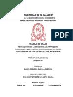 TESIS - Revitalizacion de La Imagen Urbana a Traves Del Ordenamiento Del Comercio Informal en Sector Sur de Parque Central