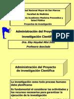 Administracion Proyecto Investigacion Dra Elsy Mini Diaz 2011 Adiecs