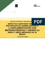 Directiva N 068 Suplementacion Niños Completo