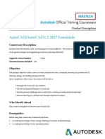 AutoCAD 2017 Essentials - 3 Days