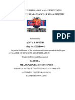 A Study on Fixed Asset Management With Reference to Bharat Sanchar Nigam Limited