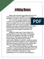 Birthday Bonus by Amol Nakve 866