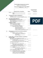 RTC Evaluation Sheet