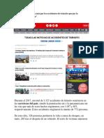 Los Peruanos Mueren Más Por Los Accidentes de Tránsito Que Por La Inseguridad Ciudadana (1)