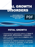 Fetal Growth Disorders