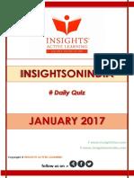 Insights Daily Quiz Jan 2017 1